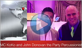 MC KoKo gives John Donovan The Party Percussionist a video testimonial