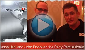 Jason Jani of SCE Event group gives John Donovan The Party Percussionist a Video Testimonial
