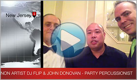 Pioneer National Demonstrator DJ Flip gives John Donovan The Party Percussionist a video testimonial
