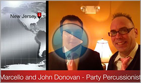 Marcello Pedalino gives John Donovan The Party Percussionist a video testimonial