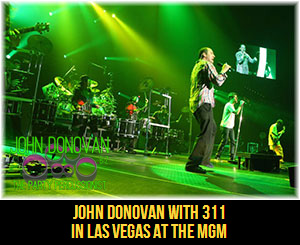John Donovan The Party Percussionist performing with 311 in a DRUMLINE in Las Vegas at the MGM