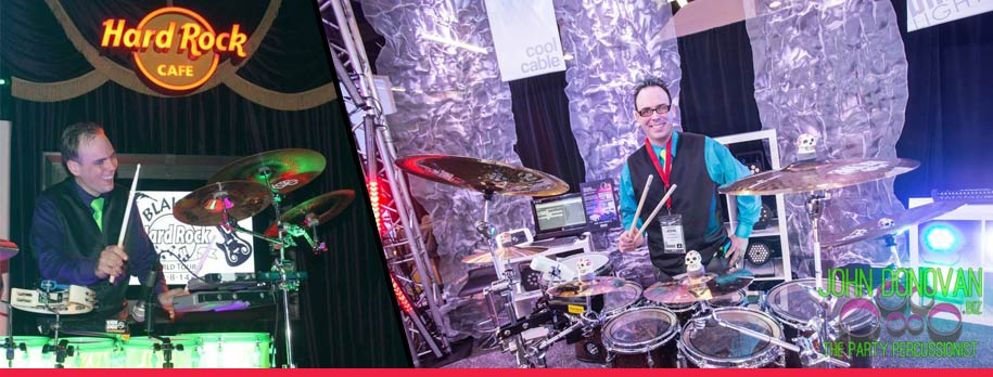 John Donovan The Party Percussionist is an acclaimed live New York wedding and mitzvah artist, musician and entertainer with DJS and Bands